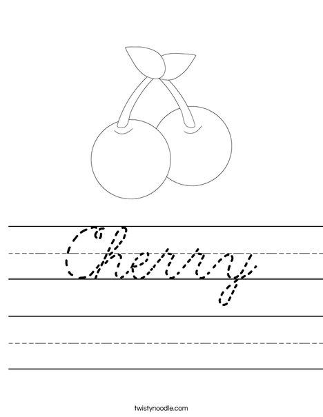 Cherries Worksheet