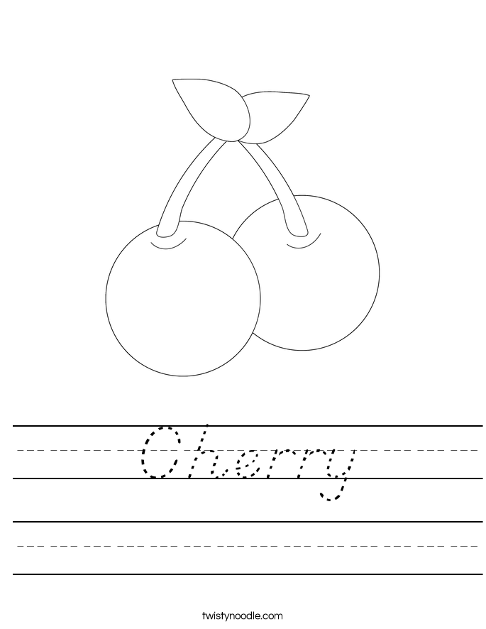 Cherry Worksheet
