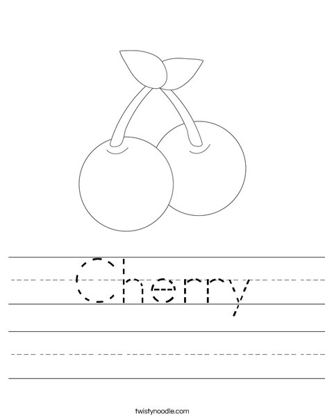 Cherries Worksheet