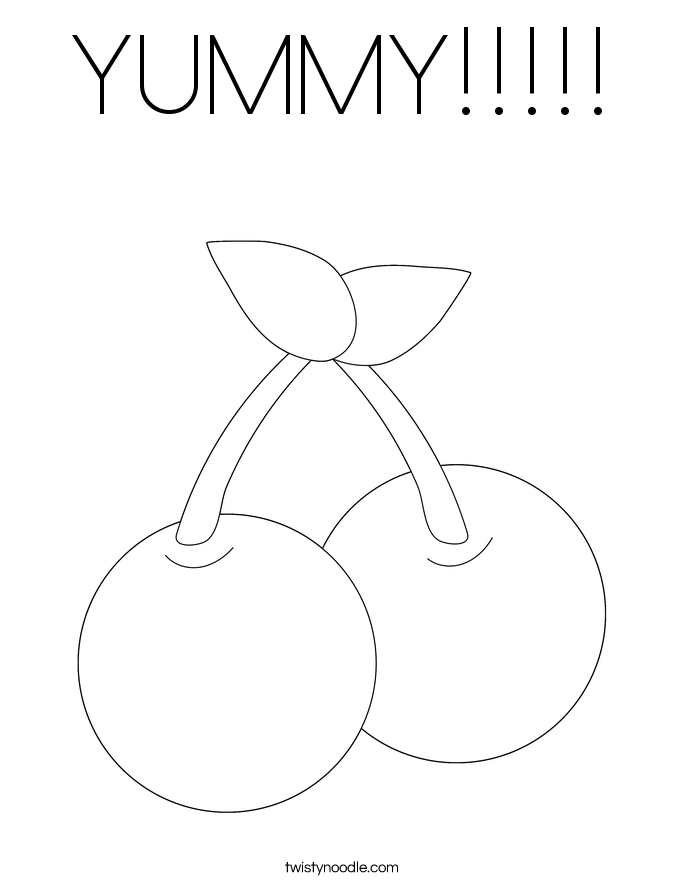 YUMMY!!!!! Coloring Page