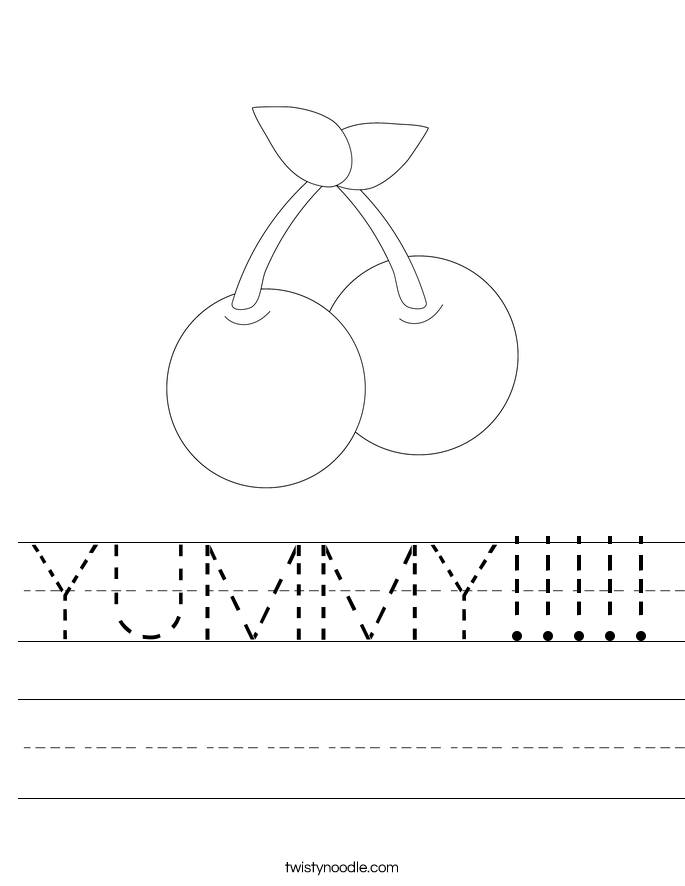 YUMMY!!!!! Worksheet