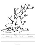 Cherry Blossom Tree Worksheet