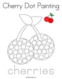 Cherry Dot Painting Coloring Page