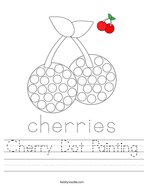 Cherry Dot Painting Handwriting Sheet