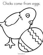 Chicks come from eggs Coloring Page