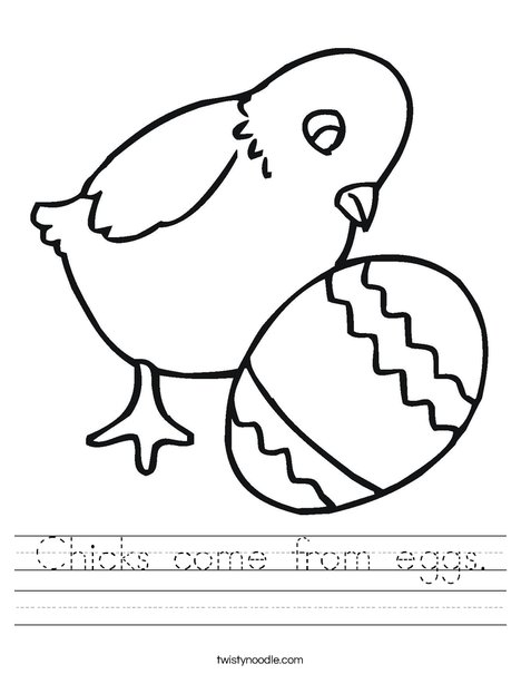 Chick and Egg Worksheet