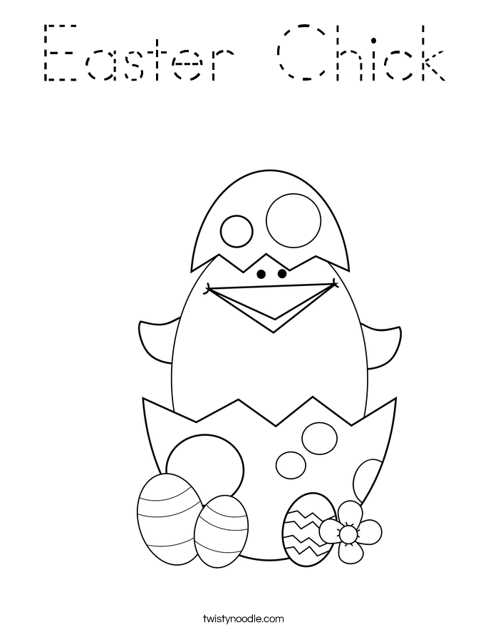 happy easter chick coloring pages - photo#20