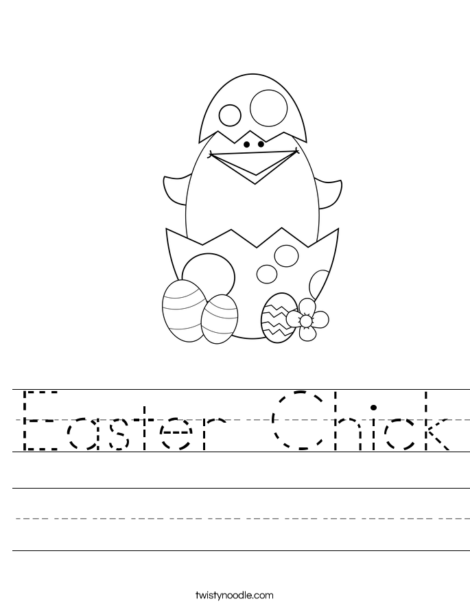 Easter Chick Worksheet - Twisty Noodle