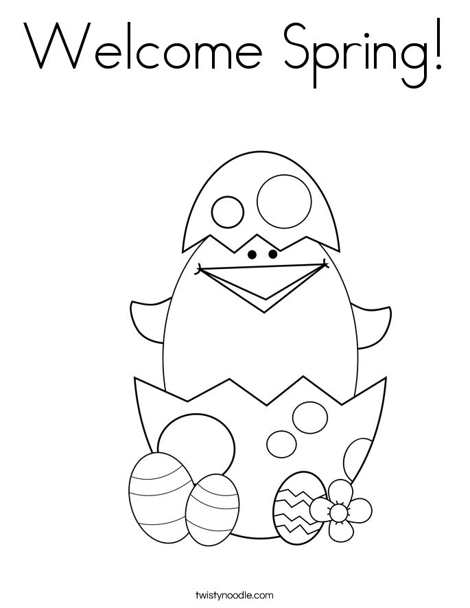 Welcome Spring Coloring Pages Welcome Coloring Pages