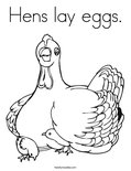 Hens lay eggs. Coloring Page