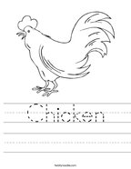 Chicken Handwriting Sheet