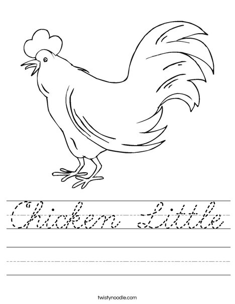 Chicken Worksheet