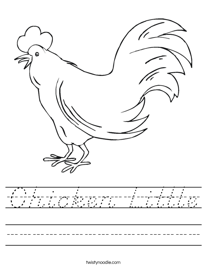 Chicken Little Worksheet
