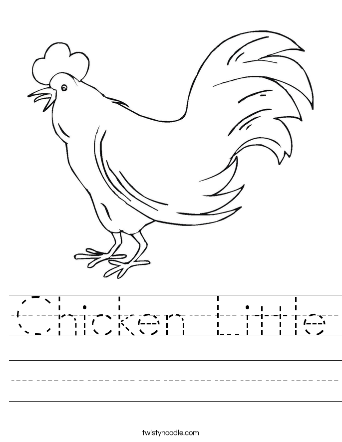 Chicken Little Worksheet