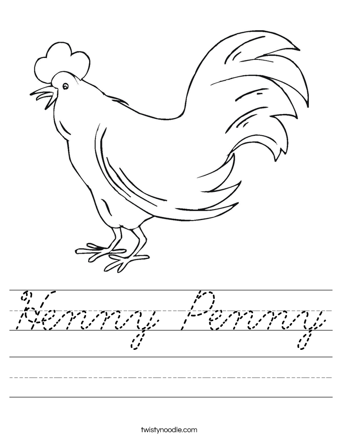 Henny Penny Worksheet