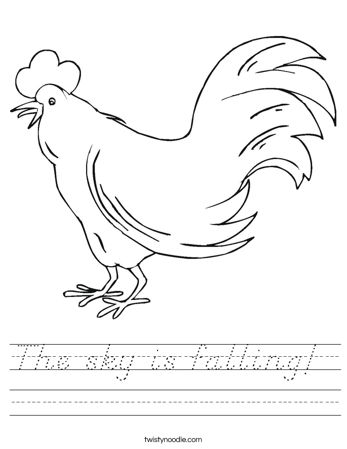 The sky is falling!  Worksheet