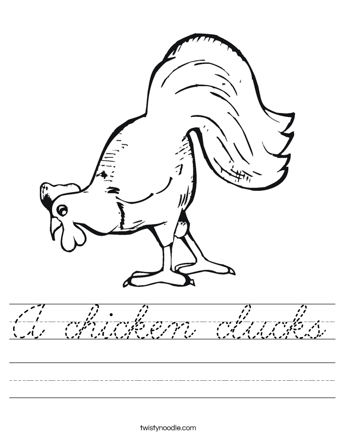 A chicken clucks Worksheet