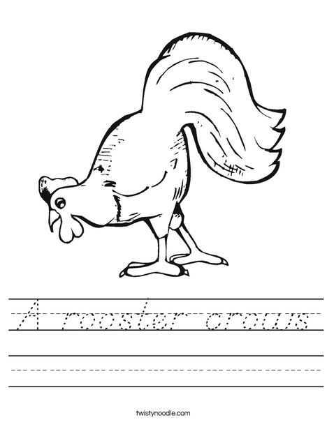 Chicken Pecking Worksheet