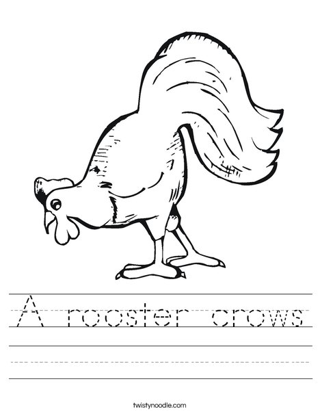 Chicken Pecking Worksheet