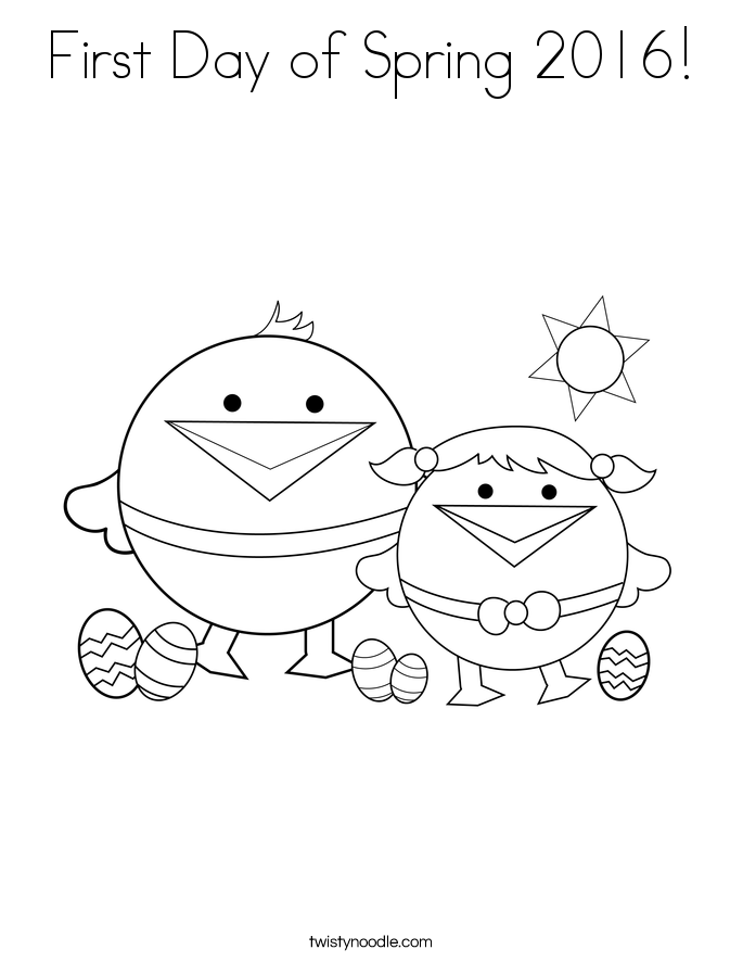 First Day of Spring 2016! Coloring Page