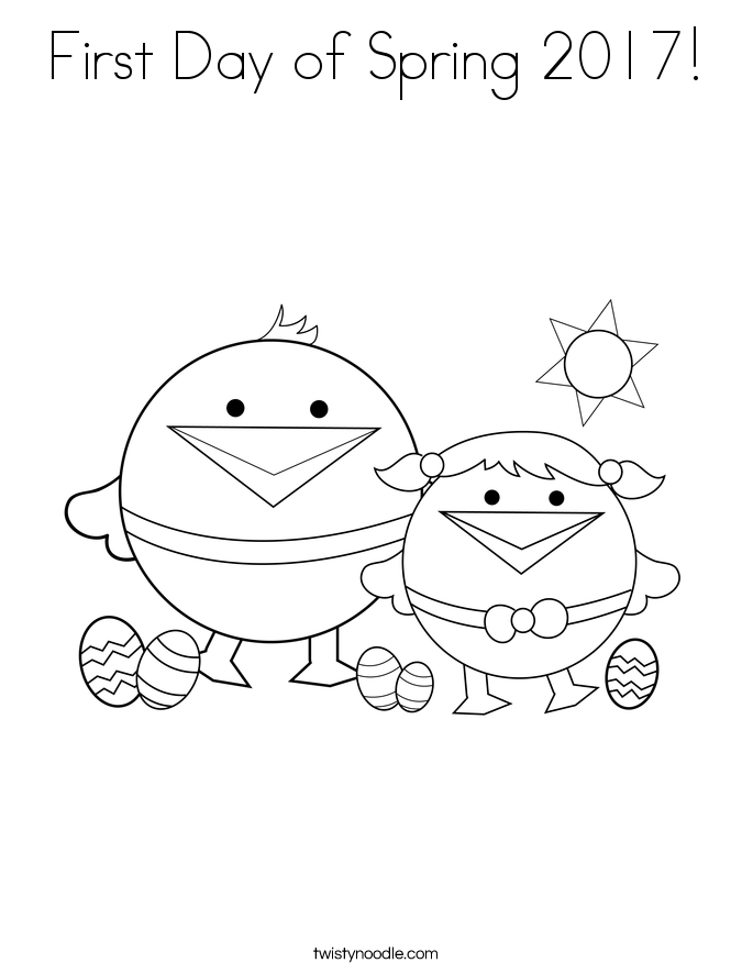 First Day of Spring 2017! Coloring Page