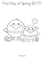 First Day of Spring 2017 Coloring Page