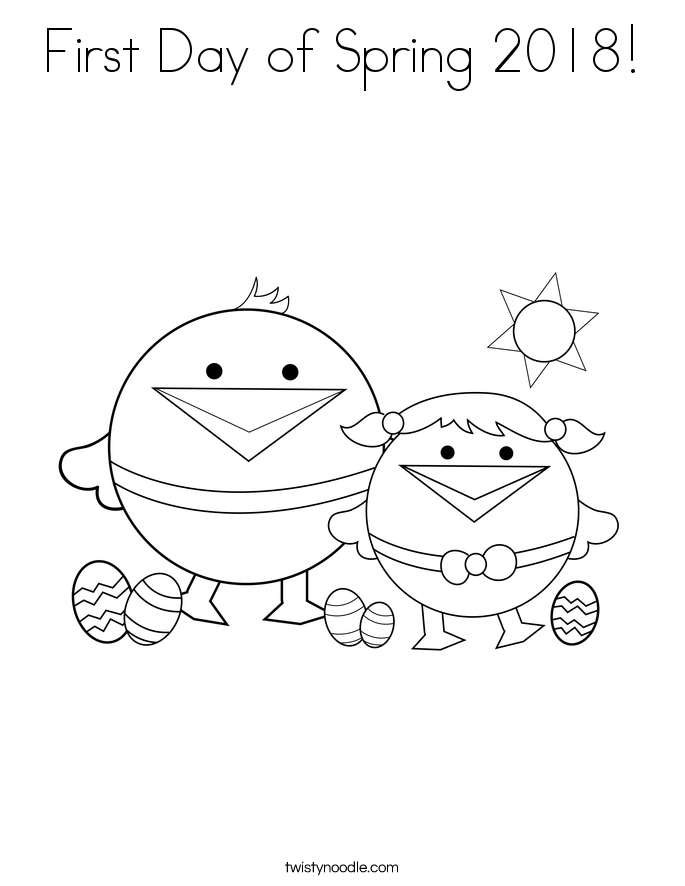 First Day of Spring 2018! Coloring Page