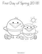 First Day of Spring 2018 Coloring Page