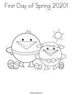 First Day of Spring 2020 Coloring Page