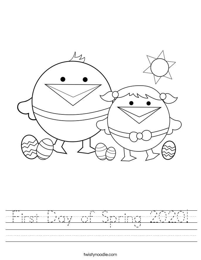 First Day of Spring 2020! Worksheet