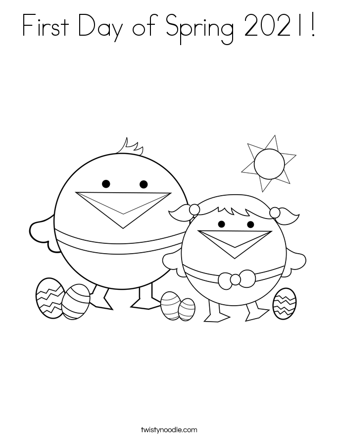 First Day of Spring 2021! Coloring Page