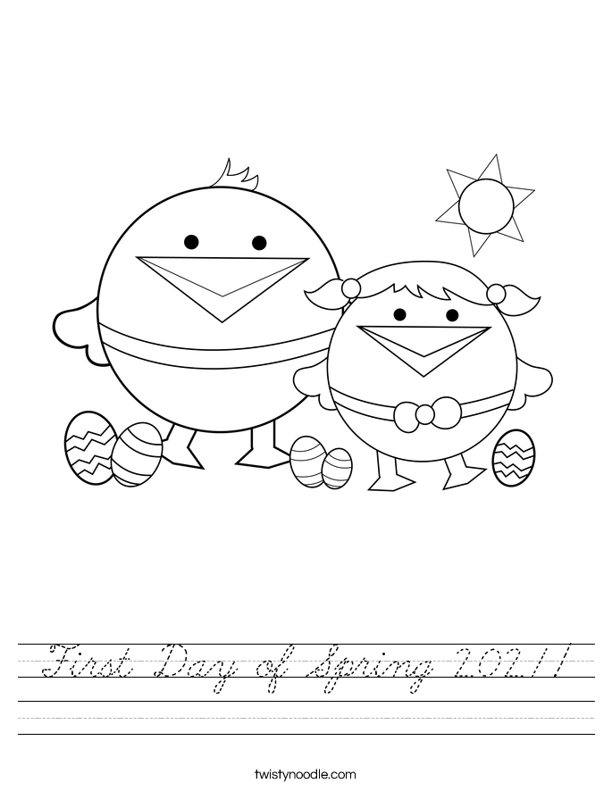 First Day of Spring 2021! Worksheet