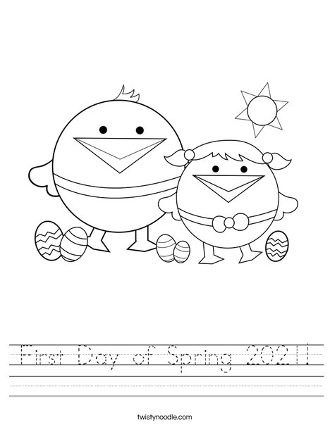 First Day of Spring Worksheet