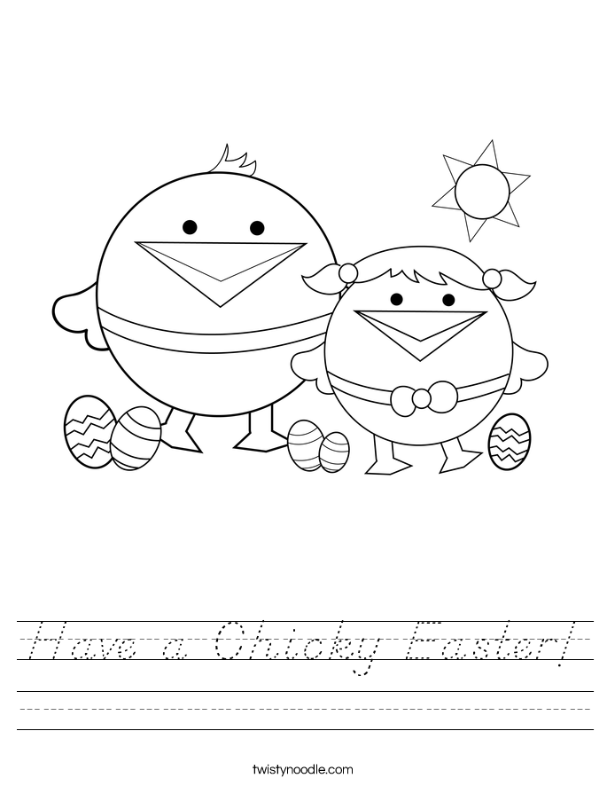 Have a Chicky Easter! Worksheet