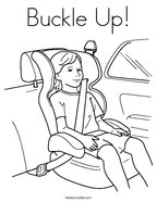 Buckle Up Coloring Page