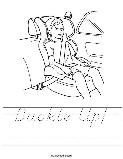 Child in Car Seat Worksheet