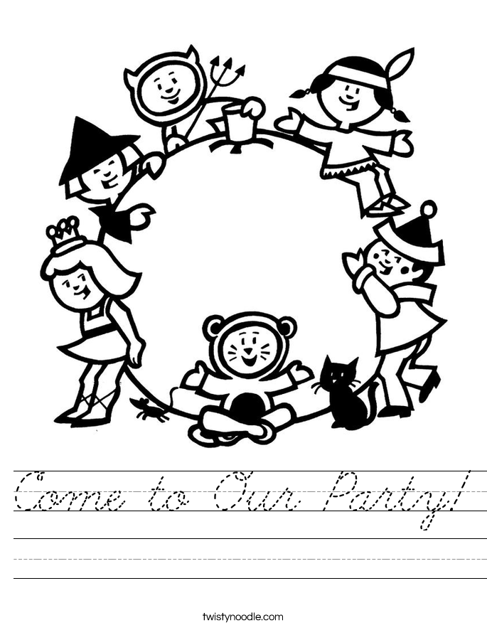 Come to Our Party! Worksheet