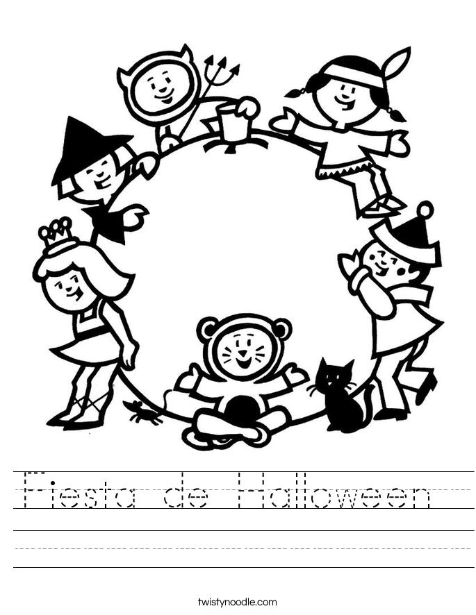 Fiesta de Halloween  Worksheet