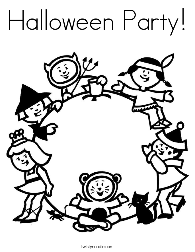 Halloween Party! Coloring Page