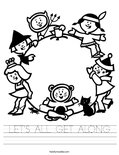 LET'S ALL GET ALONG Worksheet