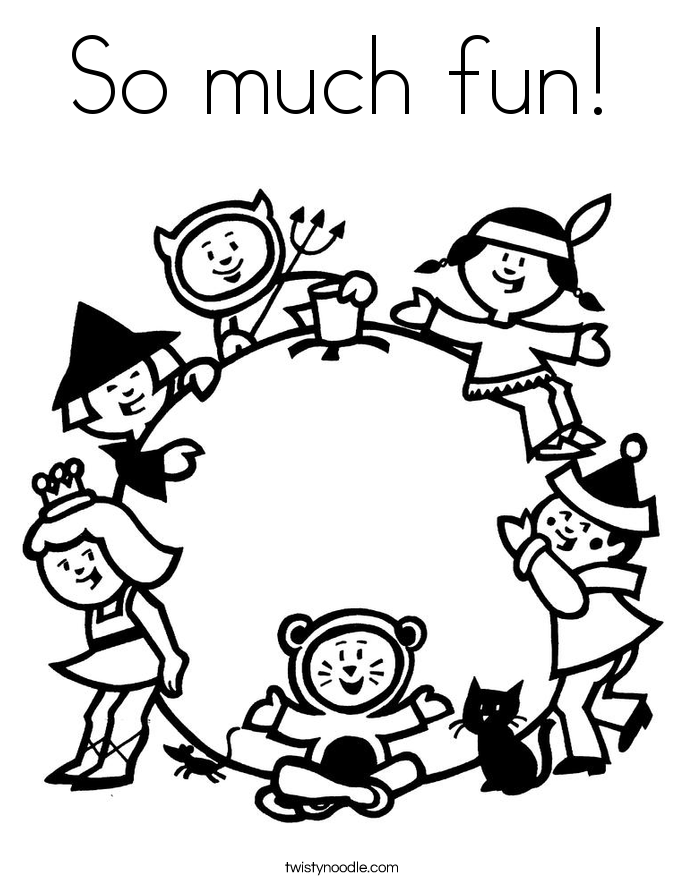 So much fun! Coloring Page