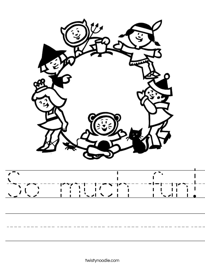 So much fun! Worksheet