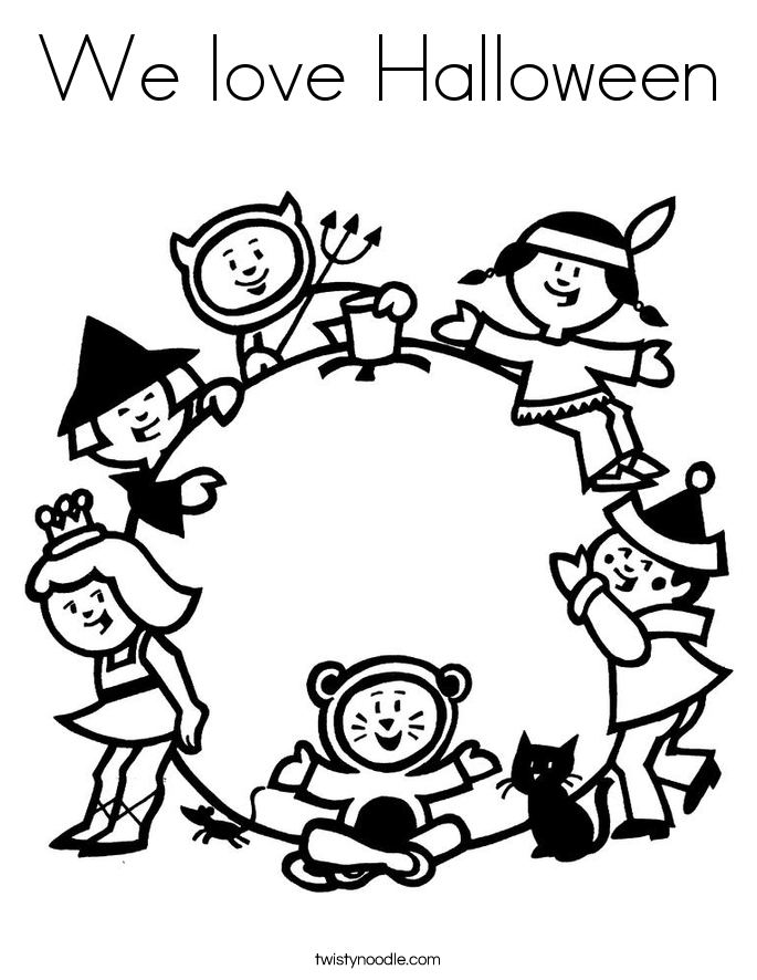 We love Halloween Coloring Page