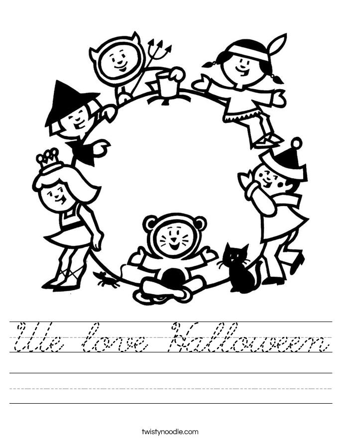 We love Halloween Worksheet