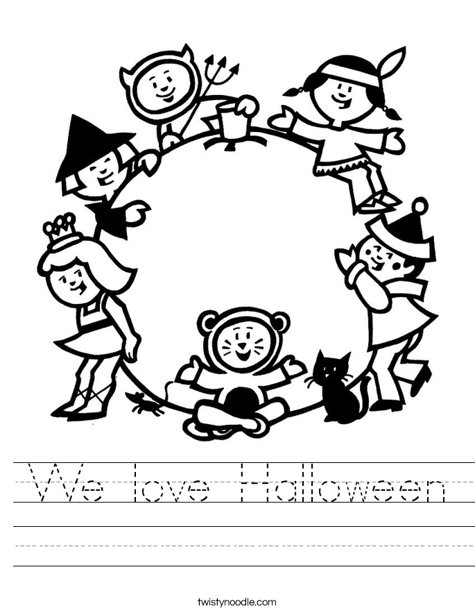 We love Halloween Worksheet
