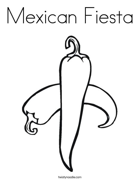 Mexican Fiesta Coloring Page - Twisty Noodle