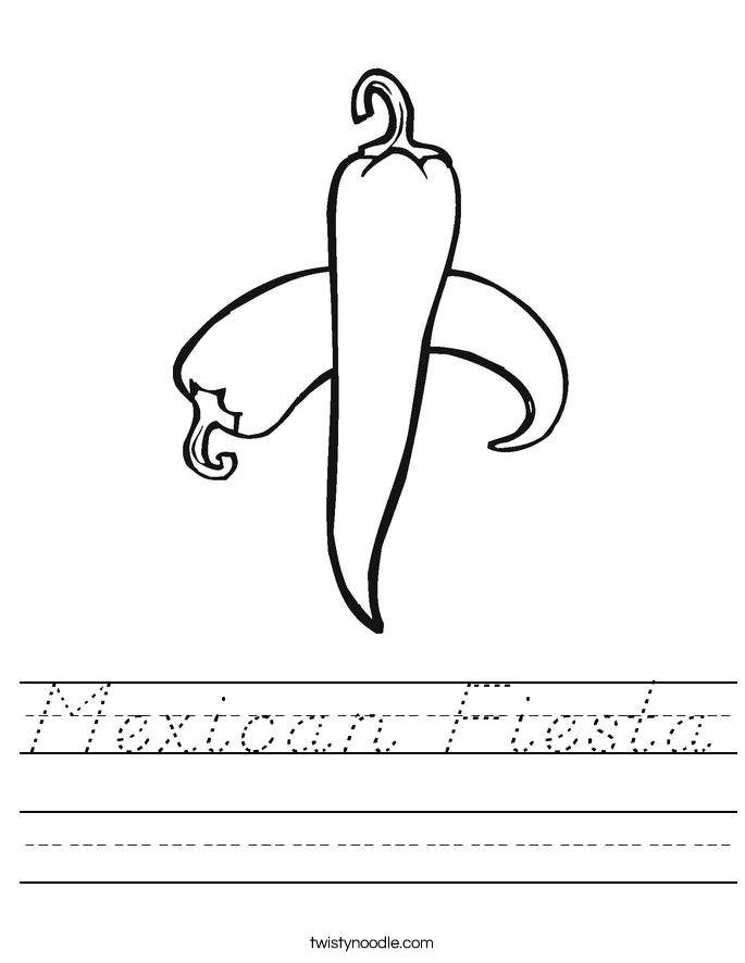 Mexican Fiesta Worksheet