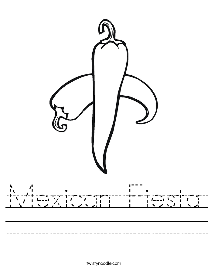 Mexican Fiesta Worksheet