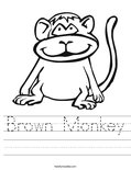 Brown Monkey Worksheet