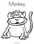 MonkeyColoring Page